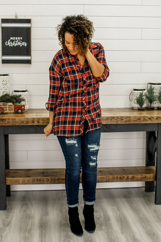 Plaid Tunic | Stylish & Affordable | UOI Online