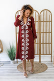 Embroidered Midi Dress | Stylish & Affordable | UOI Online