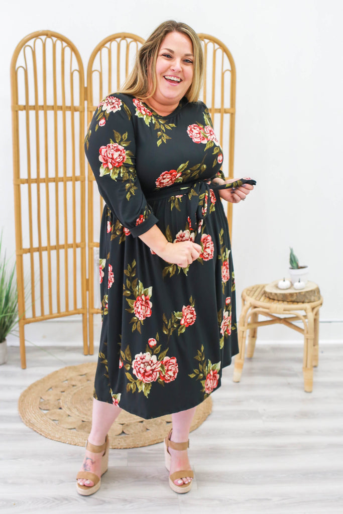 Plus Size Floral Print Dress | Stylish & Affordable | UOI Online
