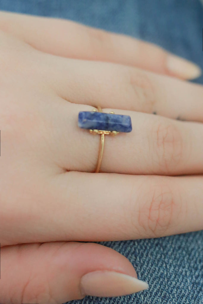 Faux Stone Bar Ring - Online Clothing Boutique