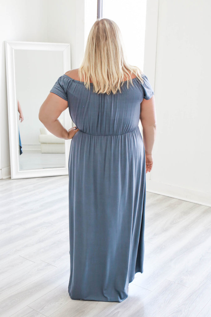 Plus Size Off The Shoulder Maxi Romper - Online Clothing Boutique