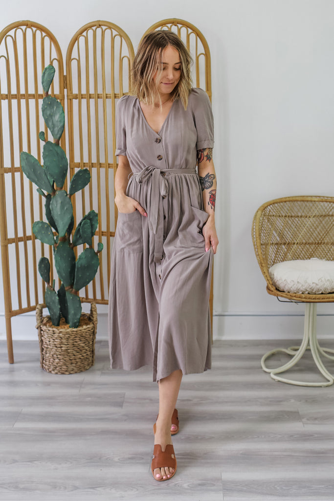 Linen Midi Dress | Stylish & Affordable | UOI Online