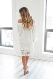 Off The Shoulder Linen Dress - Online Clothing Boutique