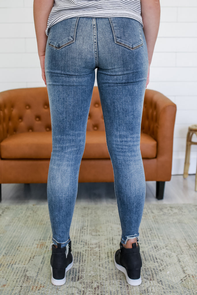 High Rise Distressed Skinny Jeans | Stylish & Affordable | UOI Online