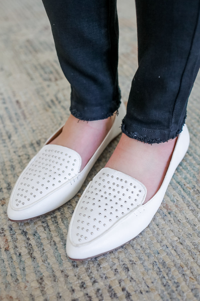Faux Leather Studded Loafers | Stylish & Affordable | UOI Online