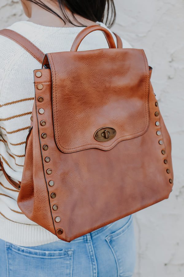 Vegan Leather Fold Over Backpack | Stylish & Affordable | UOI Online