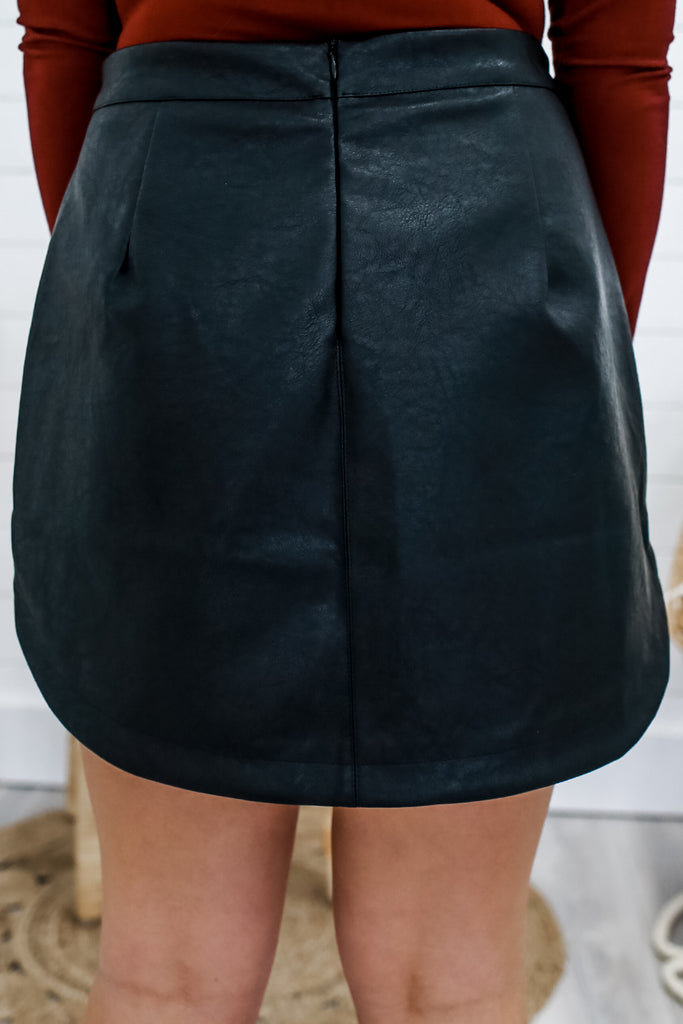 Faux Leather Mini Skirt | Stylish & Affordable | UOI Online