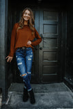 Long Sleeve Crew Neck Sweater | Stylish & Affordable | UOI Online