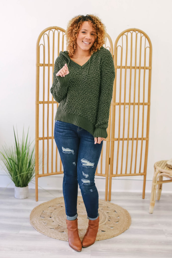 Popcorn Knit Sweatshirt | Stylish & Affordable | UOI Online