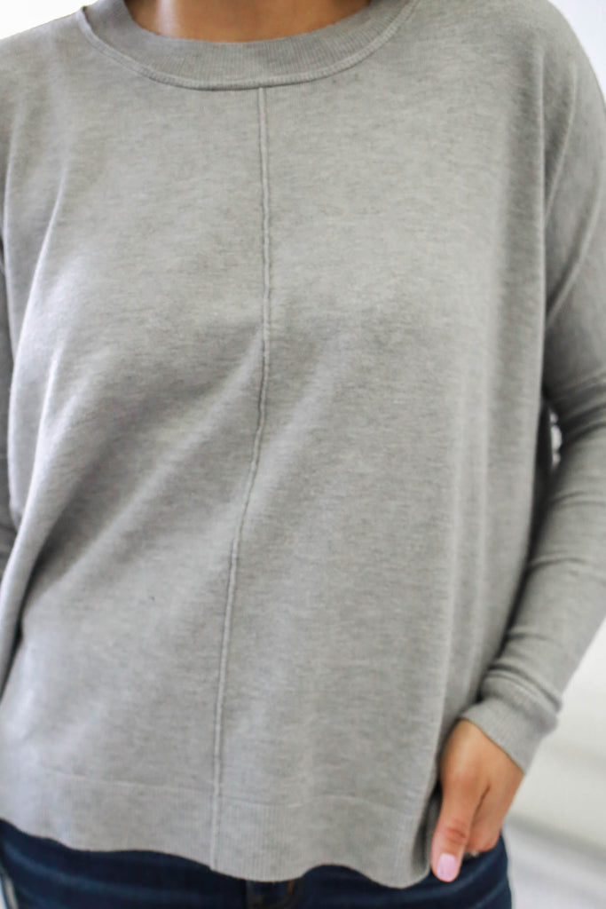 Crew Neck Sweater - Online Clothing Boutique