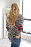 Striped And Buffalo Plaid Top - Online Clothing Boutique