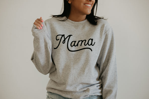 Crew Neck Mama Graphic Sweatshirt | Stylish & Affordable | UOI Online