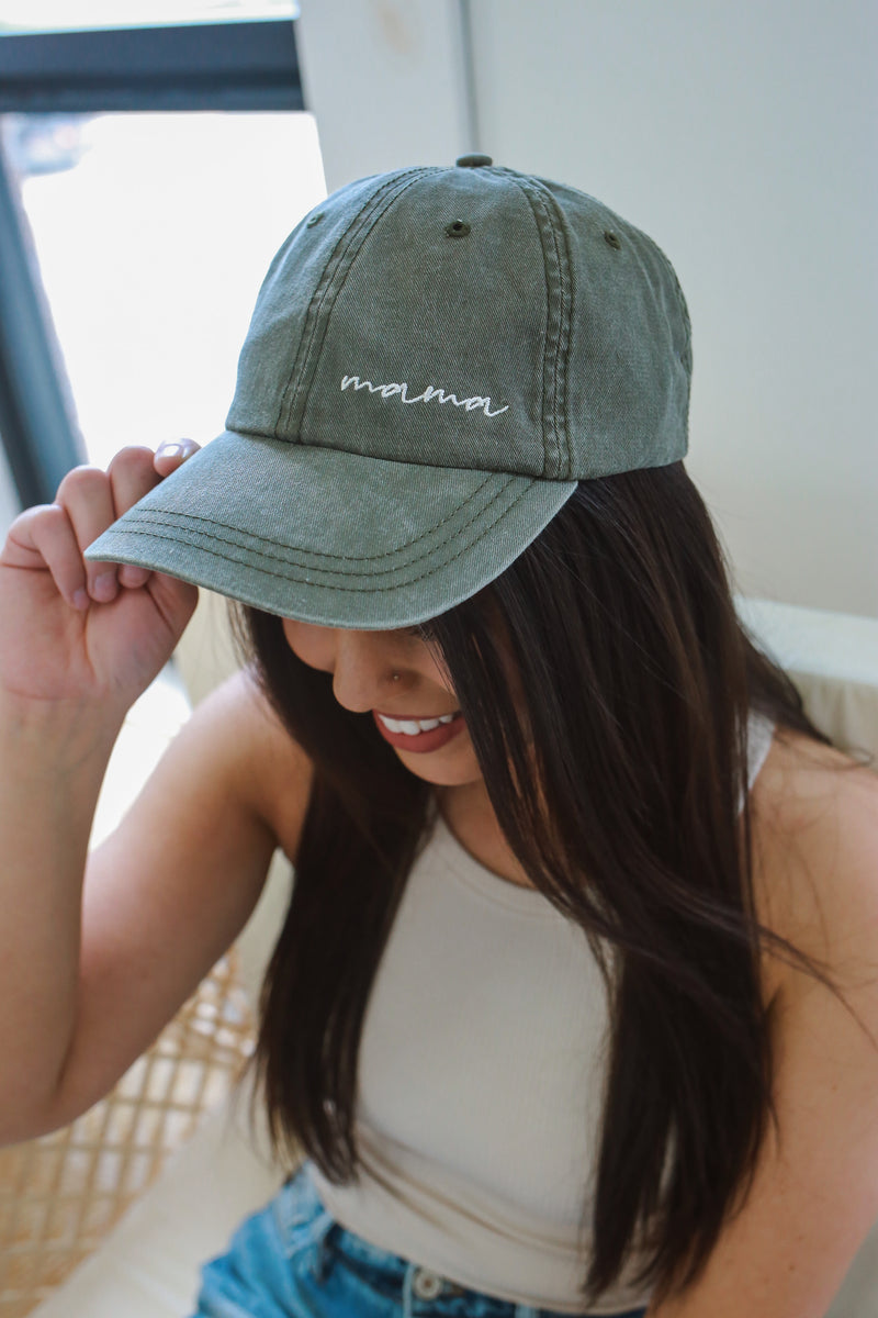 Vintage Washed Mama Graphic Cap | Stylish & Affordable | UOI Online