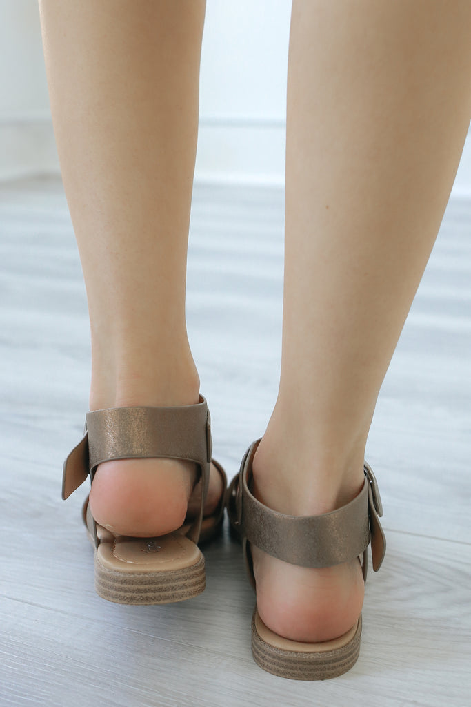 BEHIND-S Flat Sandals - Online Clothing Boutique