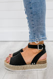 Strappy Platform Espadrille Sandals - Online Clothing Boutique