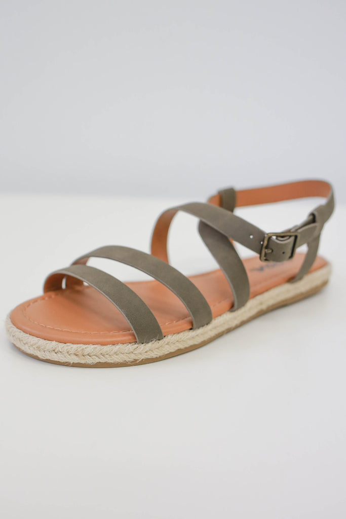 Strappy Espadrille Sandals - Online Clothing Boutique