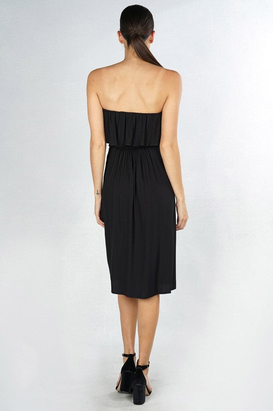 Strapless Midi Dress | Stylish & Affordable | UOI Online