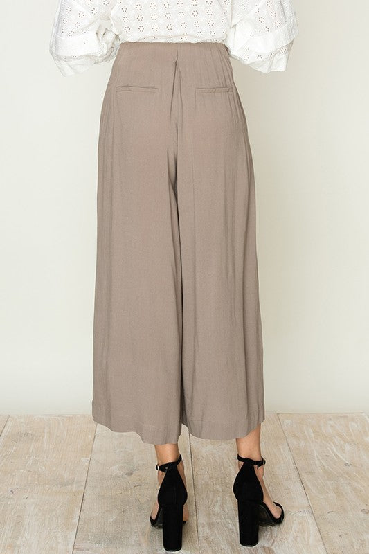 High Rise Wide Leg Cropped Pants - Online Clothing Boutique