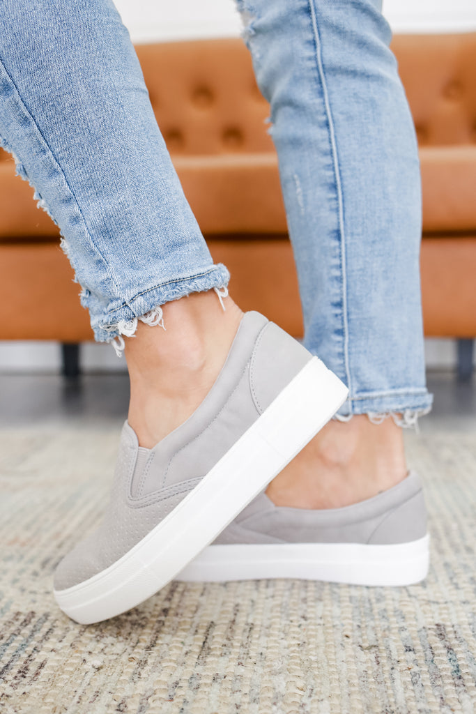 Faux Leather Platform Sneakers | Stylish & Affordable | UOI Online