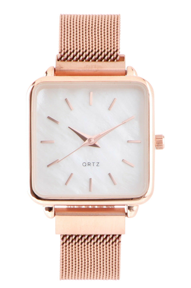 Square Face Stainless Steel Watch - Online Clothing Boutique