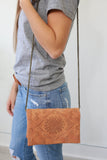 Faux Leather Convertible Clutch - Online Clothing Boutique