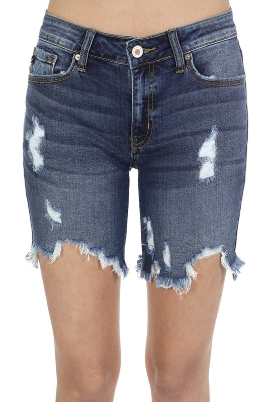 Distressed Bermuda Shorts - Online Clothing Boutique