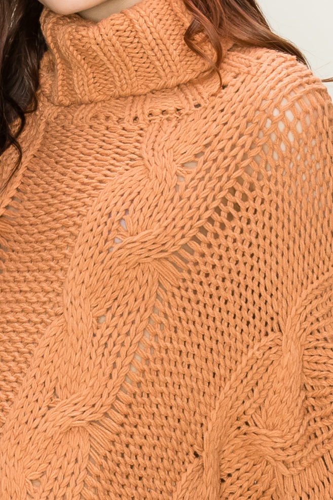 Turtleneck Cropped Sweater | Stylish & Affordable | UOI Online