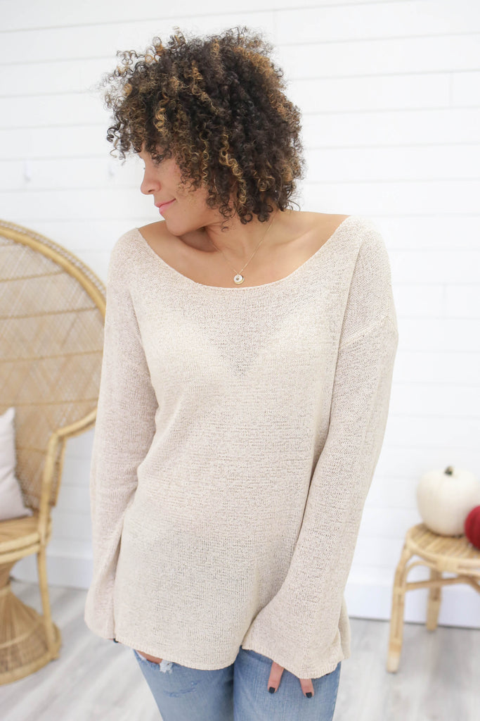 Lightweight Boatneck Sweater - Online Clothing Boutique