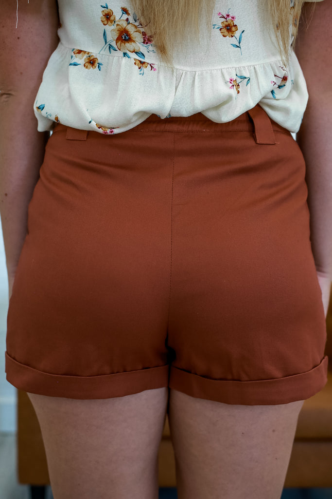 High Rise Pleated Shorts | Stylish & Affordable | UOI Online