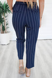 Striped Woven Pants - Online Clothing Boutique