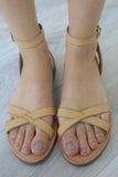 OLIVIA-S Criss-Cross Sandals - Online Clothing Boutique