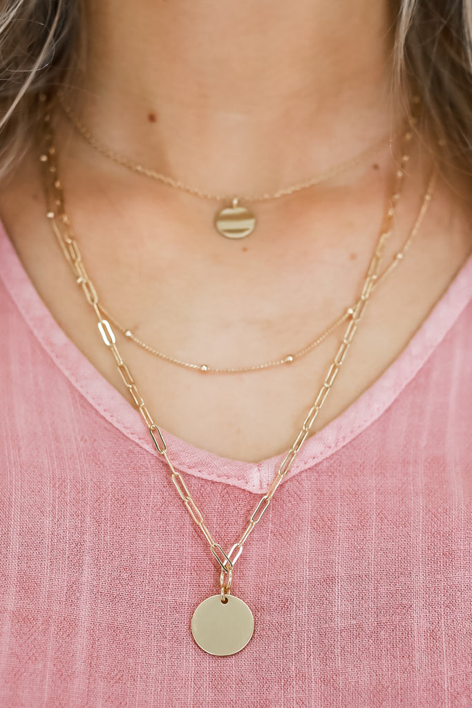 Layered Chain Necklace | Stylish & Affordable | UOI Online