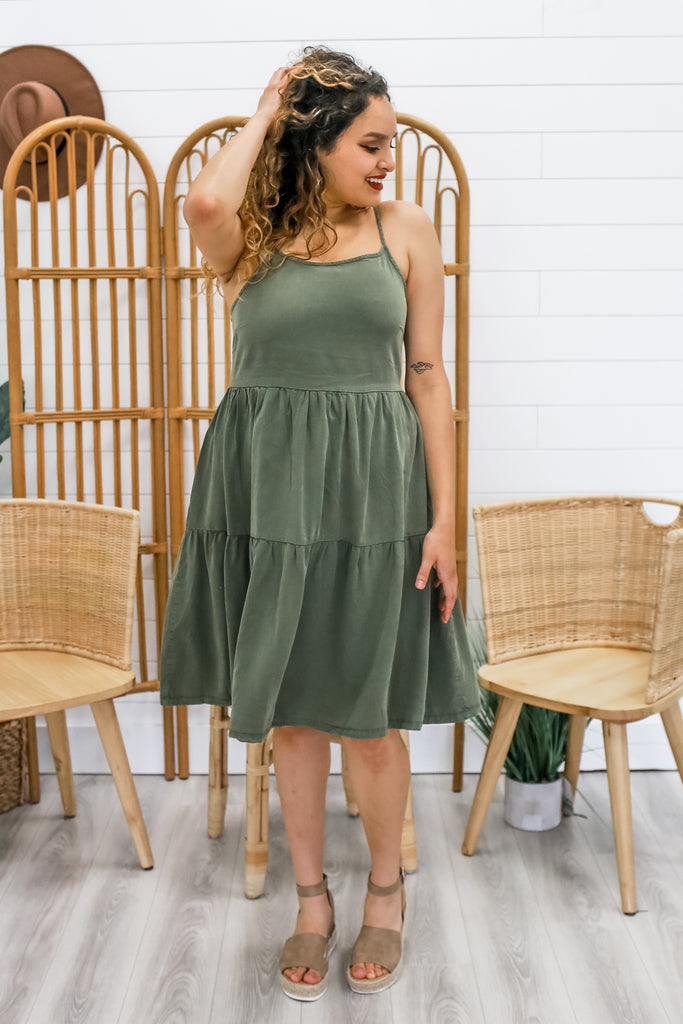 Cami Strap Tiered Dress | Stylish & Affordable | UOI Online