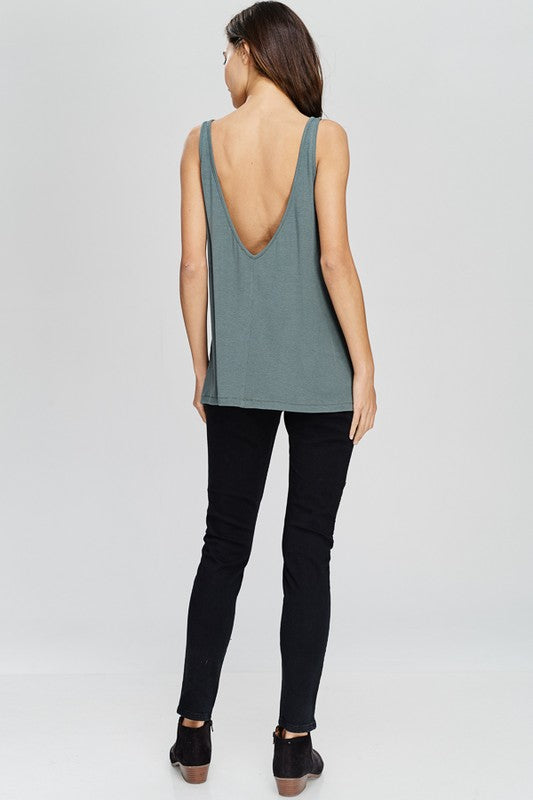 Scoop Back Tank Top | Stylish & Affordable | UOI Online