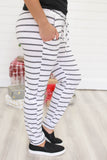 Striped Joggers - Online Clothing Boutique