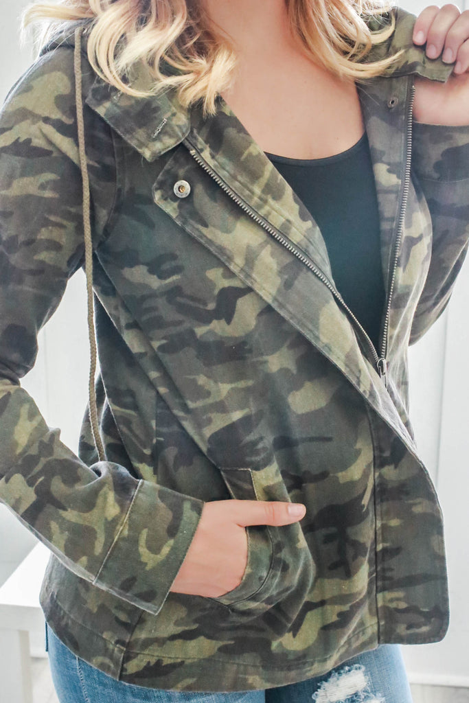 Camo Cargo Jacket - Online Clothing Boutique