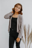 Asymmetric Faux Suede Blazer | Stylish & Affordable | UOI Online