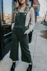 Corduroy Cropped Wide-Leg Overalls | Stylish & Affordable | UOI Online