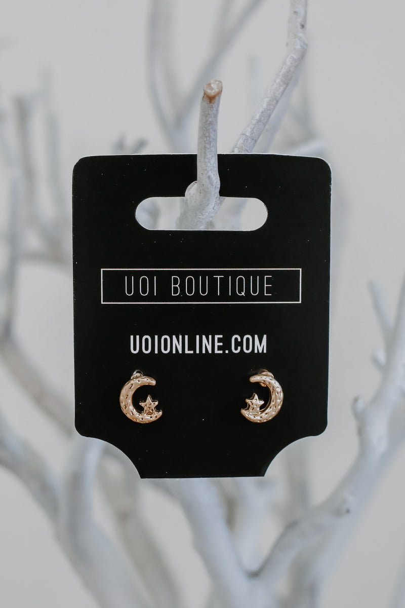 Moon & Star Stud Earrings | Stylish & Affordable | UOI Online