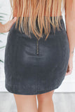 Faux Suede Mini Skirt - Online Clothing Boutique