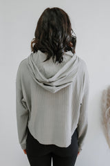 Ribbed Knit Hooded Crop Top | Stylish & Affordable | UOI Online