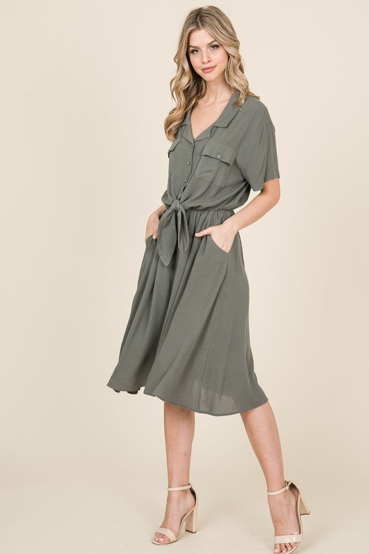 Button Down Midi Dress | Stylish & Affordable | UOI Online