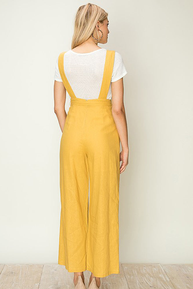 Cropped Backless Jumpsuit -Online Clothing Boutique