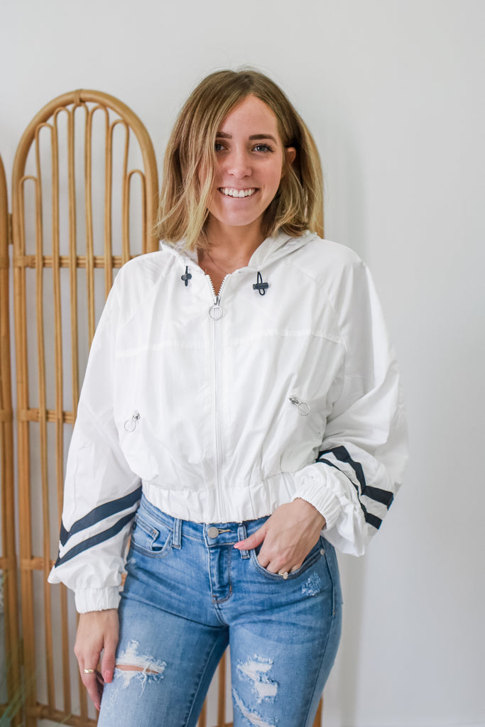 Cropped Windbreaker Jacket | Stylish & Affordable | UOI Online