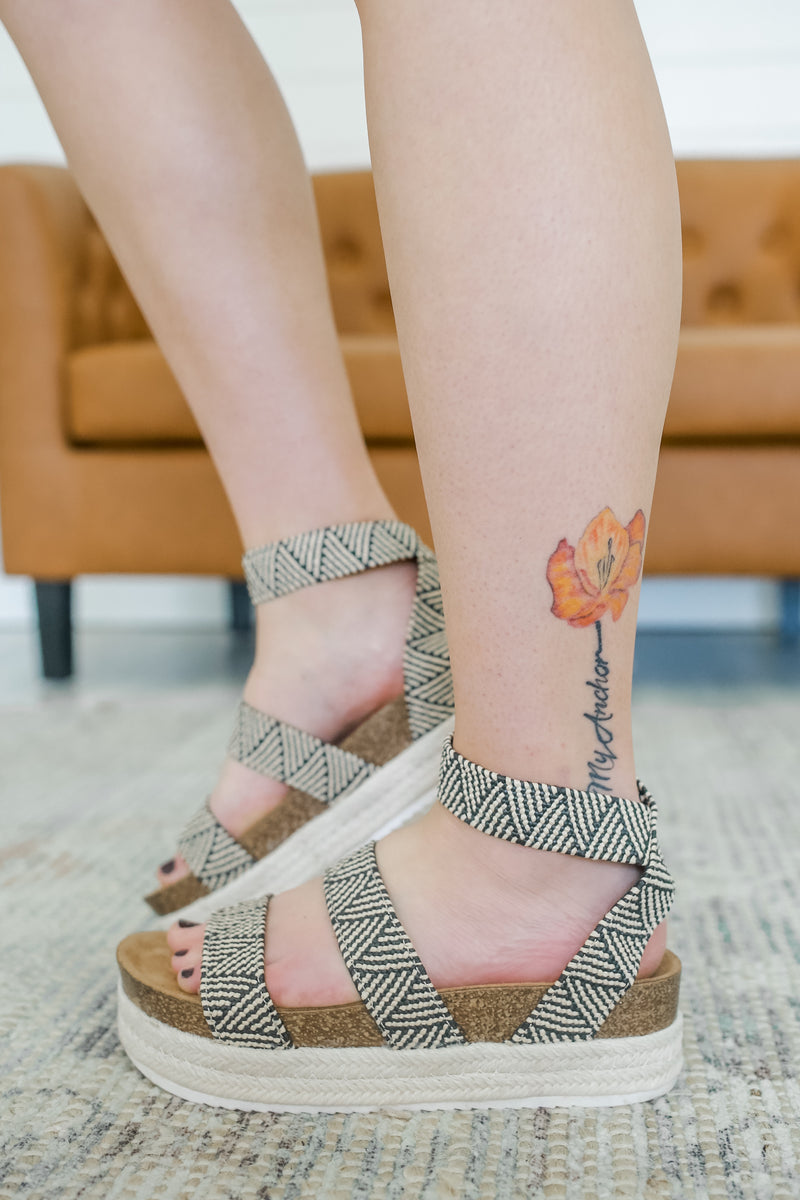 Espadrille Platform Strappy Sandals | Stylish & Affordable | UOI Online