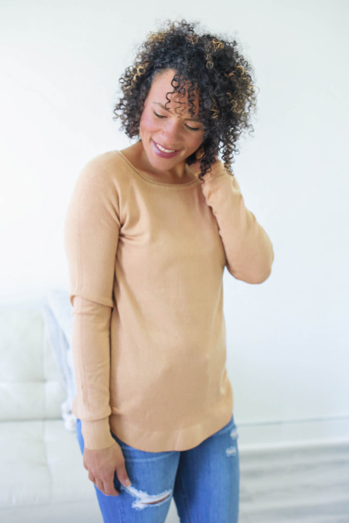 Basic Sweater - Online Clothing Boutique