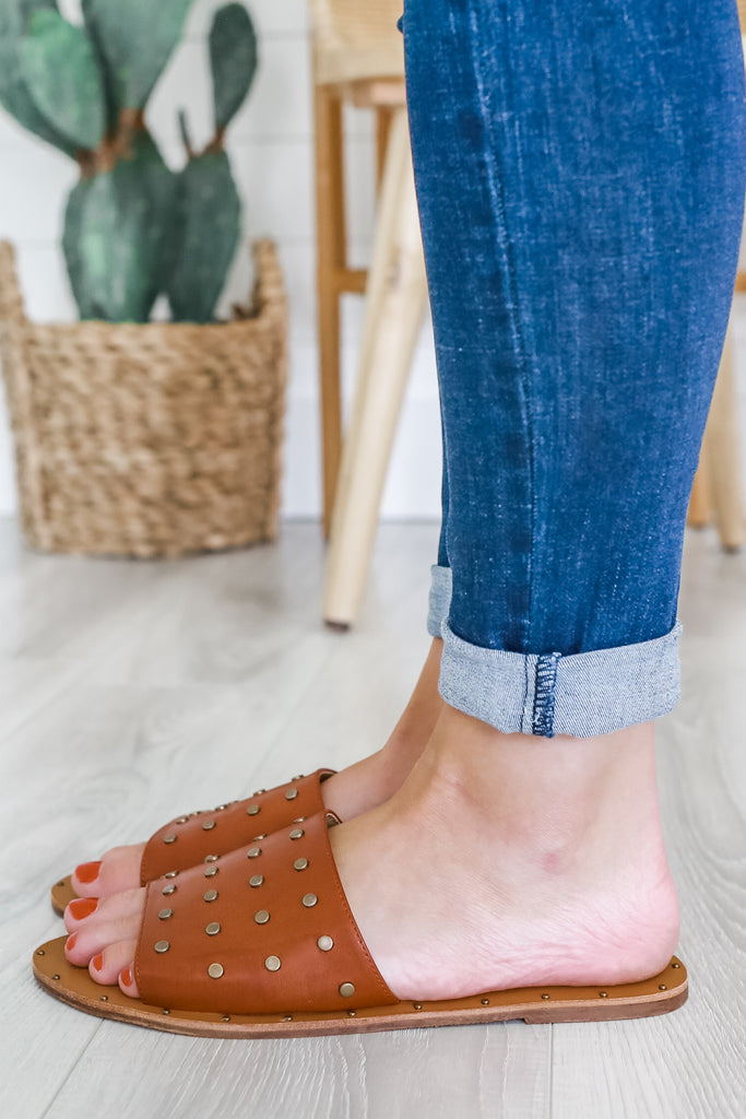 Studded Slip On Sandals | Stylish & Affordable | UOI Online