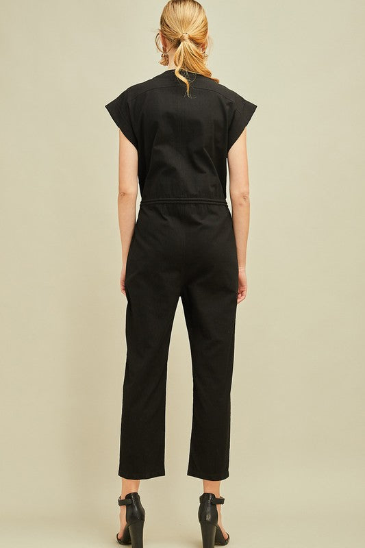 Black Cargo Jumpsuit - Online Clothing Boutique