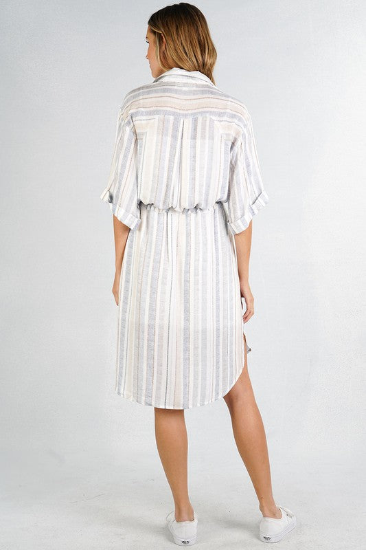 Striped Shirt Dress | Stylish & Affordable | UOI Online