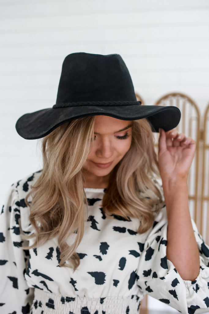 Faux Suede Floppy Hat | Stylish & Affordable | UOI Online